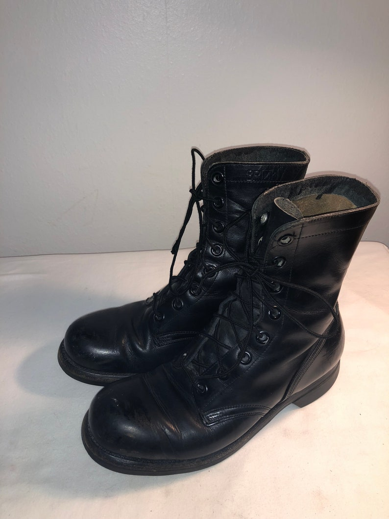 df6feca1980e3 Men Size 8 Vintage Addison Shoe Company Ankle Military Boots with Biltrite  Soles