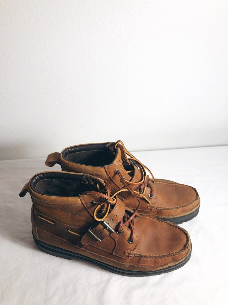 03467f63f1daa Men Size 12 Vintage RL Polo Sport Rugged/Worn in Brown Hiking Ankle Boots