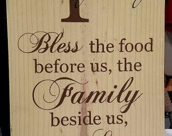 Custom family blessings sign