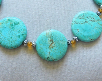 Gorgeous Turquoise Statement Necklace