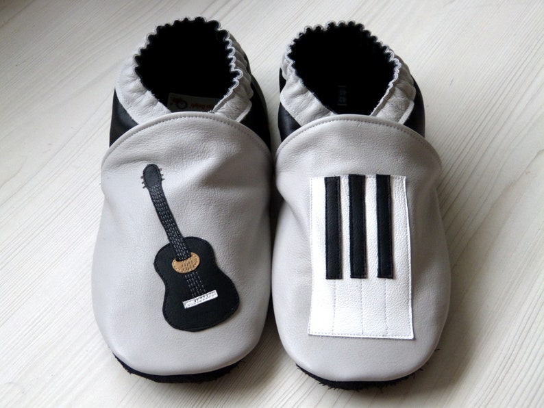 ba1bf46f93f6e Shoes leather/size 18 to 45/adult/child/baby/leather  cowhide/soft/shoes/slippers/made in France/hand made/piano/guitar