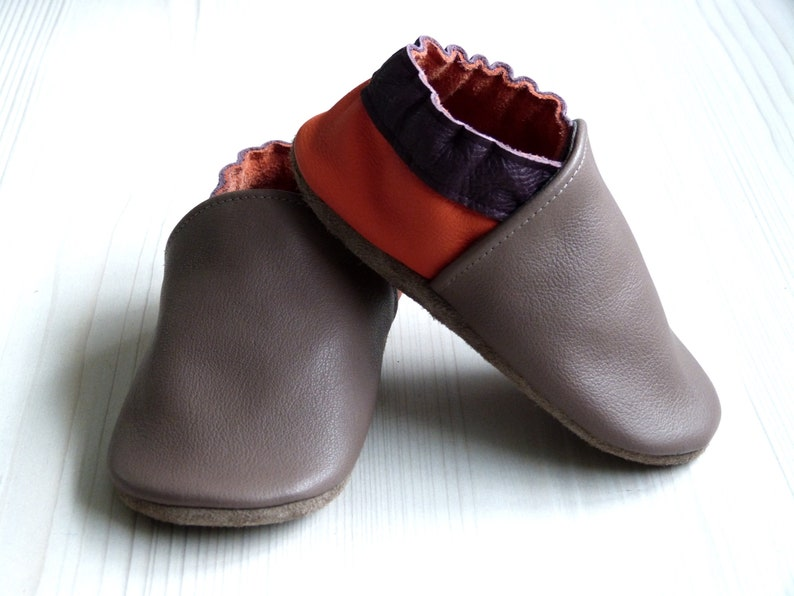 5cf9b0f045a7e Shoes leather/size 18 to 45/adult/child/baby/leather  cowhide/soft/shoes/slippers/uni/made in France/hand made/custom