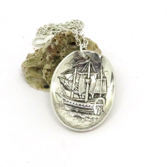 Viking Soapstone Vessel Ask Norway: Norwegian Viking Necklace Sailing Ship Necklace Mariner