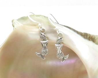 Sassy mermaid earrings, aquatic earrings, light earrings, dangle earrings