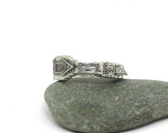 Wales ring, Machynlleth, Powys, Wales ring,  Welsh ring, spoon ring, UK ring, narrow ring