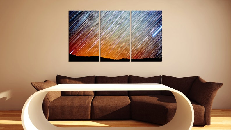 3 Panel Sky Metal Wall Art Ready to Hang Better than Canvas