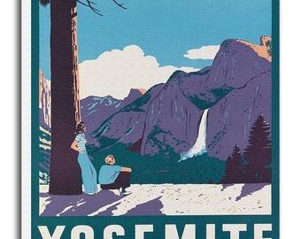 Yosemite Art Vintage National Park Poster Print Canvas Hanging Wall Decor xr881