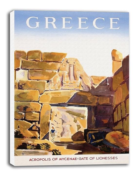 Greek Art Vintage Greece Travel Poster Retro Home Decor Print Xr925