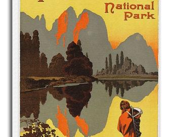 Yosemite National Park Art Canvas Travel Poster Print Hanging Wall Decor xr619