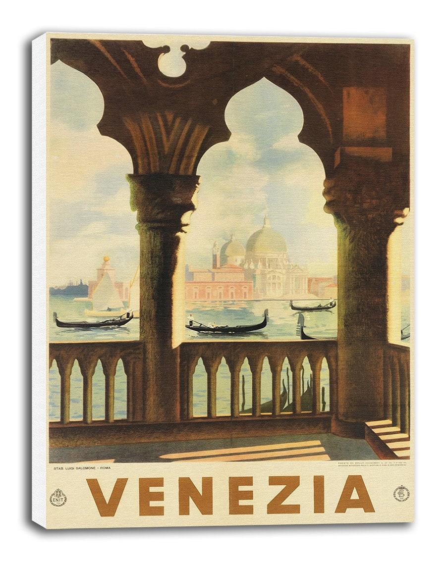 Travel Poster Venice Italy Art Canvas Print Hanging Wall Decor | Etsy