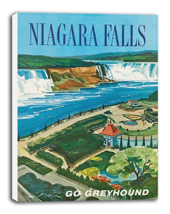 Niagara Falls And Canada Vintage Travel Poster Tourism old Retro Print