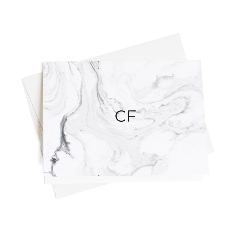 Personalized Gifts Personalized Note Cards Personalized Stationery Marble Note Cards NC1039-4 Thank You Cards Monogrammed Stationery