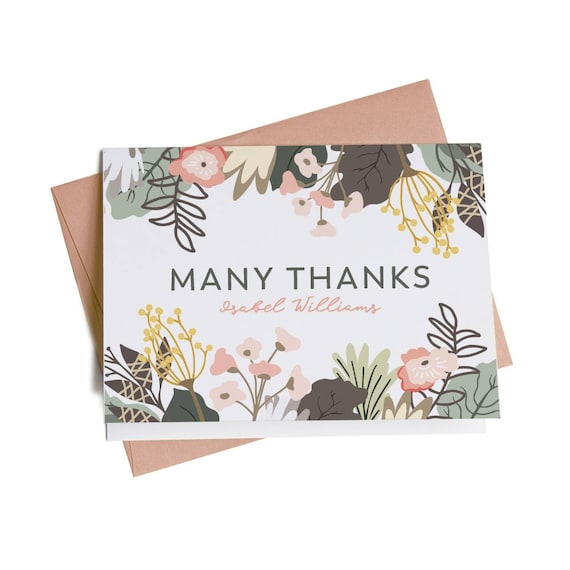 Personalized thank you cards business thank you cards thank etsy image 0 reheart Image collections