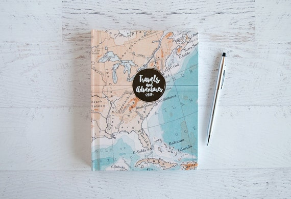 personalized travel journal trip journal hardcover travelogue etsy