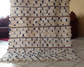 Moroccan Wedding Blanket- handira - Moroccan handira - blue - Moroccan decor