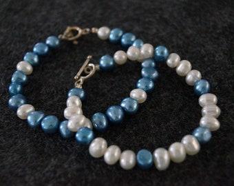Set of 2 Freshwater Pearl Bracelets