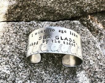 I want to age like sea glass bracelet