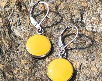 LOBSTERMAN'S WIFE Band Earrings-Yellow