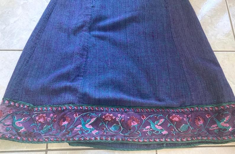 Retro BOHO skirt from SARAH CLOTHES circa 1980s Hippy all Cotton Beauty size Small