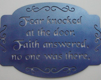 Inspirational Wall Plaque Sign Plasma Cut Metal Wall Art Home Decor Religious