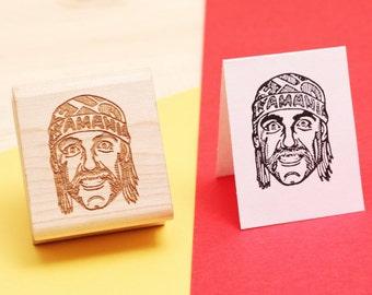 Hulk Hogan - Rubber Stamp Portrait
