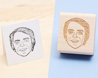 Carl Sagan - Rubber Stamp Portrait