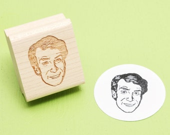 Bill Nye the Science Guy - Rubber Stamp Portrait
