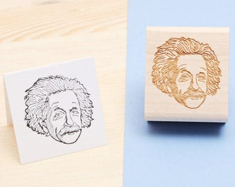 Albert Einstein - Rubber Stamp Portait