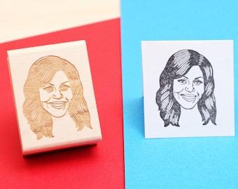 Michelle Obama - Rubber Stamp Portrait