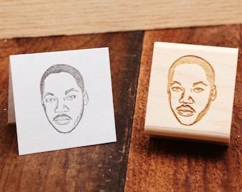 Martin Luther King Jr. - Rubber Stamp Portrait
