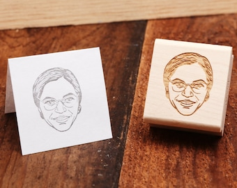 Rosa Parks - Rubber Stamp Portrait