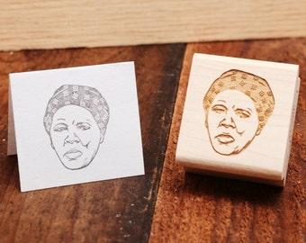 Harriet Tubman - Rubber Stamp Portrait