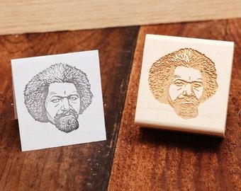Frederick Douglass - Rubber Stamp Portrait