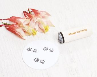 Animal Paws - Mini Rubber Stamp