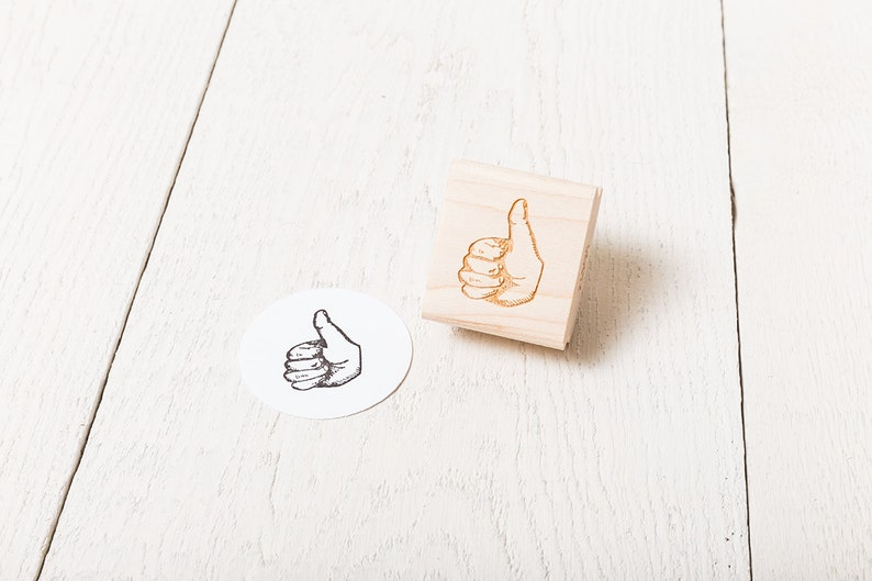 Thumbs Up / Down  Rubber Stamp image 1