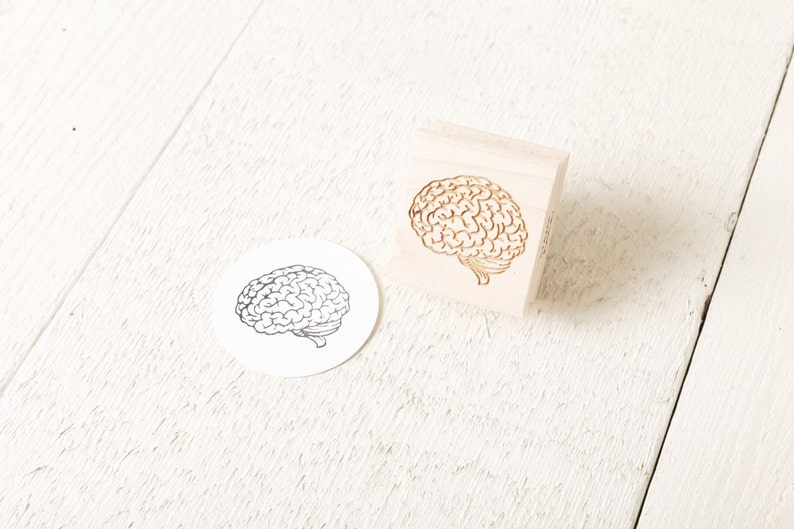Human Brain Rubber Stamp image 0