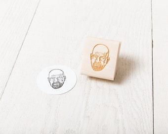 Walter White - Rubber Stamp Portrait