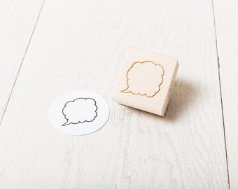 Quote Bubble - Rubber Stamp
