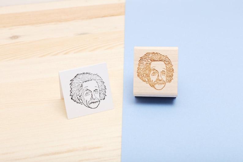 Albert Einstein  Rubber Stamp Portait image 0