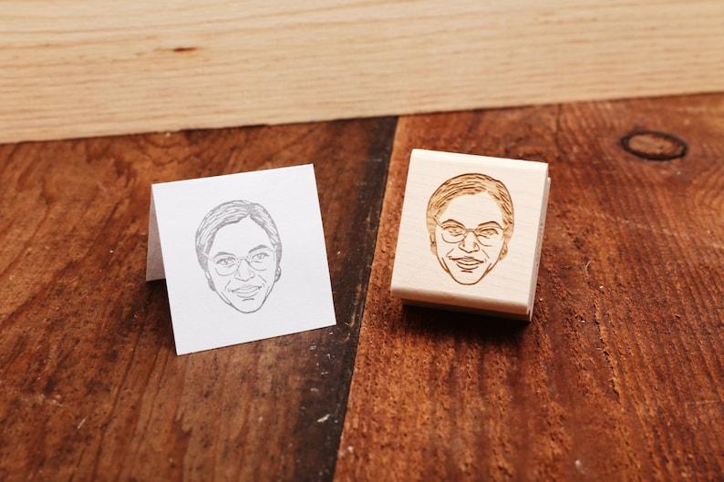 Rosa Parks  Rubber Stamp Portrait image 0
