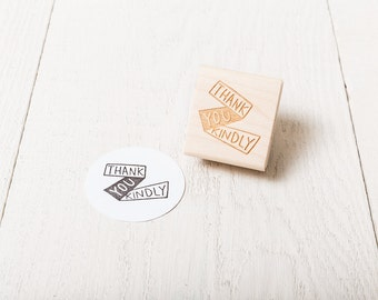 Thank You Kindly - Rubber Stamp