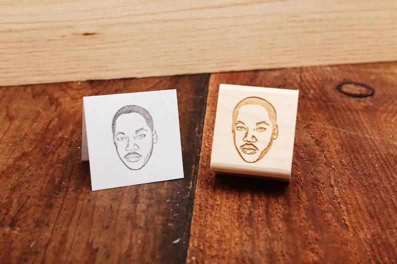 Martin Luther King Jr.  Rubber Stamp Portrait image 0