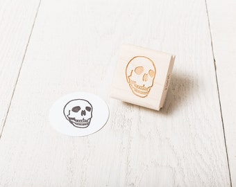 Human Skull - Rubber Stamp - Right Facing