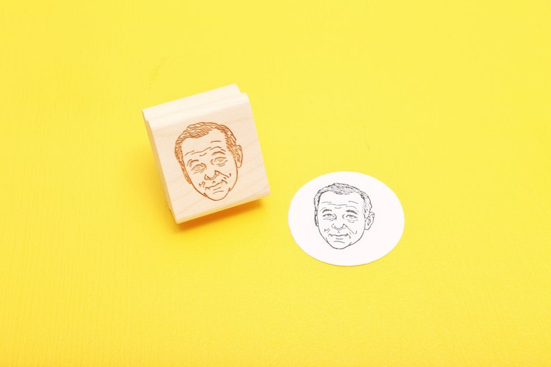 Bill Murray  Rubber Stamp Portrait image 0