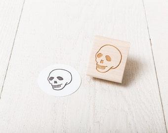 Human Skull - Rubber Stamp - Left Facing