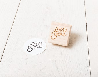 Love You - Rubber Stamp