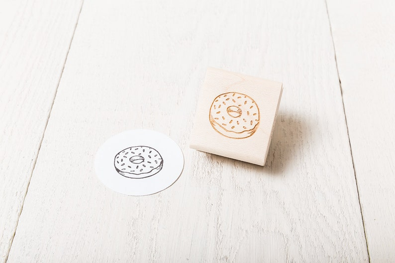 Donut  Rubber Stamp image 1