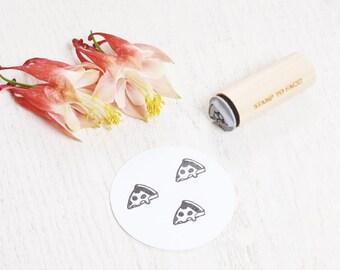 Pizza Slice - Mini Rubber Stamp