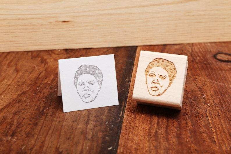 Harriet Tubman  Rubber Stamp Portrait image 0