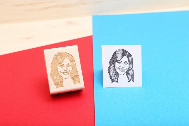 Michelle Obama  Rubber Stamp Portrait image 1